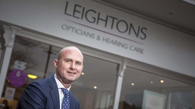 Chief executive of Leightons Opticians and Hearing Care, Ryan Leighton