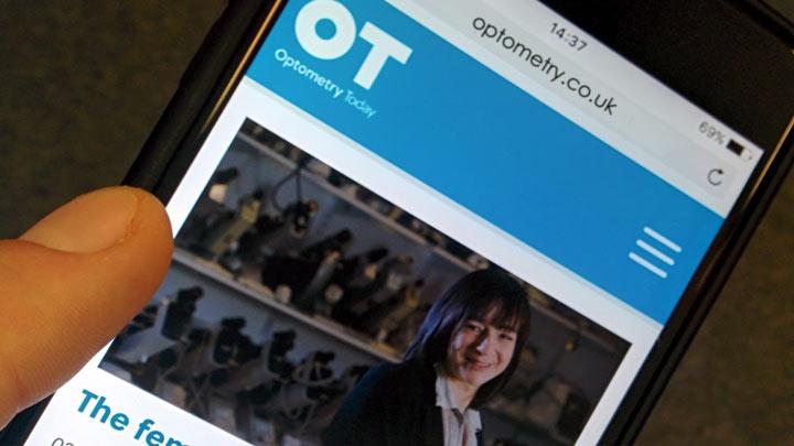 OT website on a phone