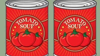 Tomato soup tins