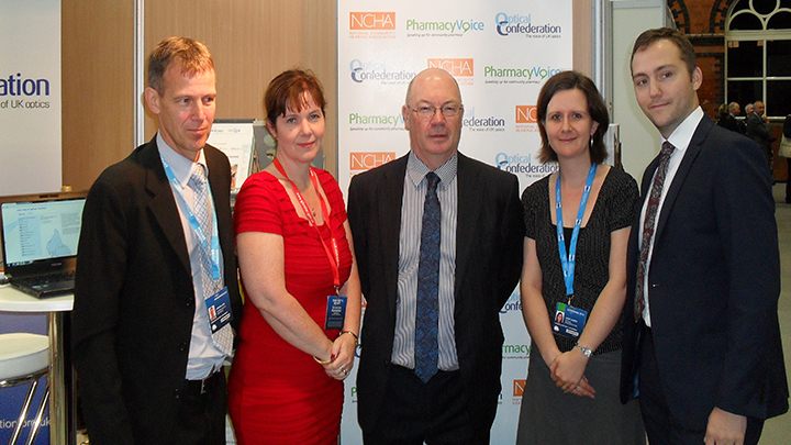 Alistair Burt MP (centre) and Optical Confederation staff