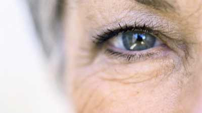 Senior woman's eye