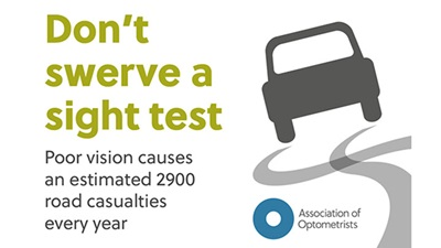 Don't swerve a sight test campaign