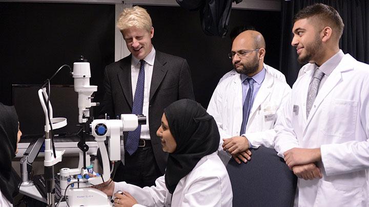 MP visits Anglia Ruskin eye clinic