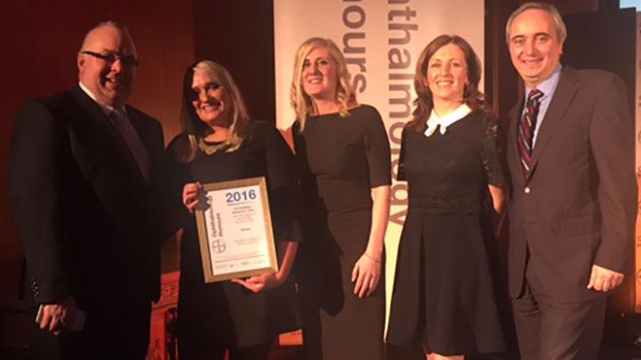 The Alder Hey Children's Hospital team collect their award