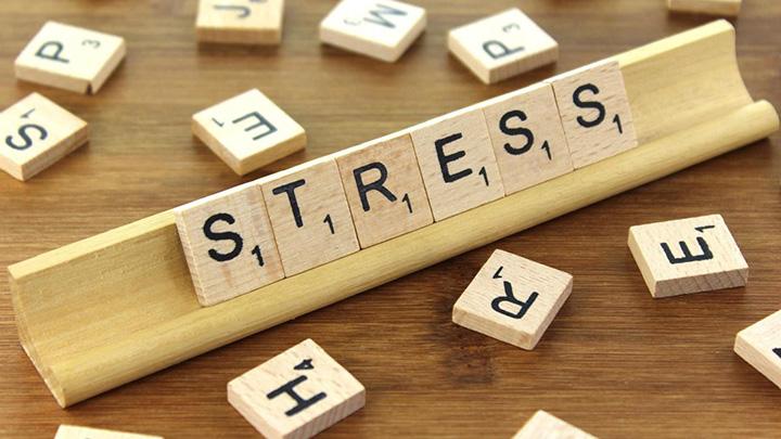 Stress scrabble letters