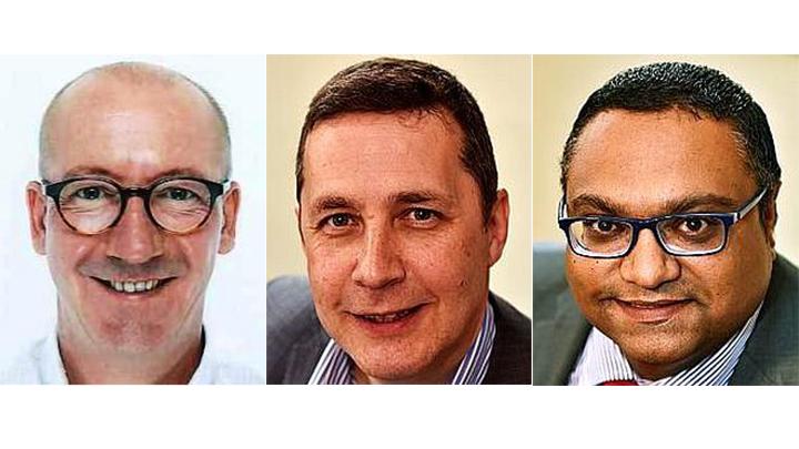 Left to right: Daryl Newsom, Kevin Gutsell, Rupesh Patel