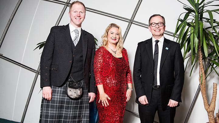 Left to right: Frank Munro, Nicola McElvanney, Richard Foggo