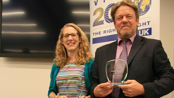 Last year's Astbury Award recipient, Rachel Pilling