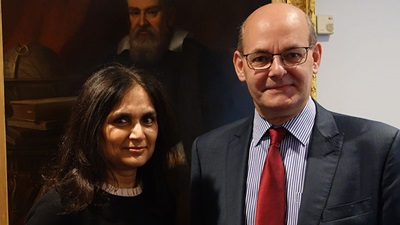Parul Desai pictured (left) and David Parkins pictured (right)