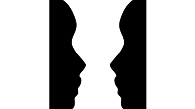 Optical illusion – a vase or two faces?