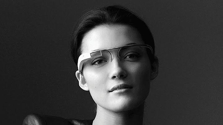 Woman wears smart glasses