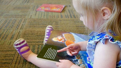 Child reading tablet device