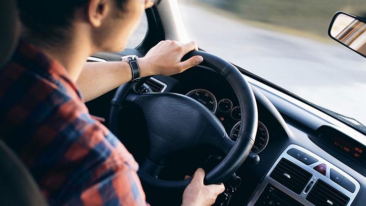 A man driving