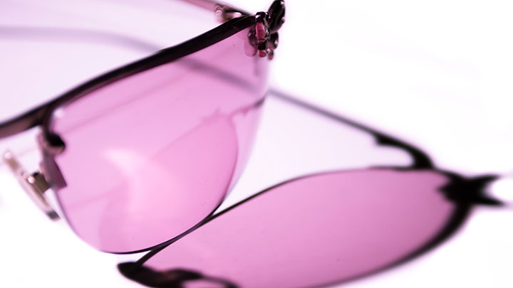 Pink spectacles