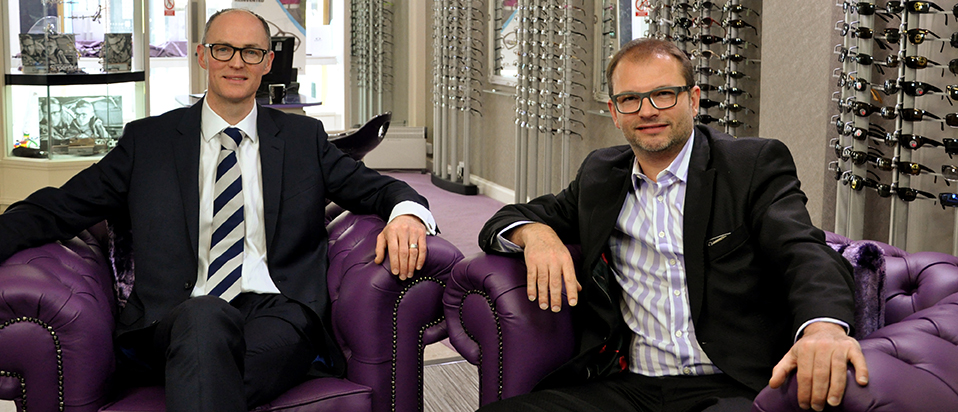 Andrew & Rogers Optometrists partners, Roger Smyth (left) and Andrew Scott (right)