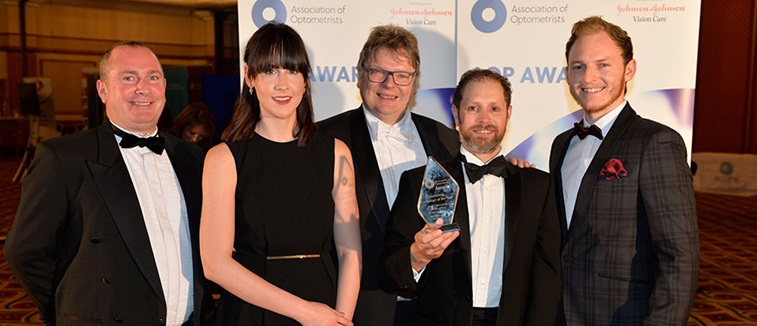 The BBR Optometry team at the AOP Awards
