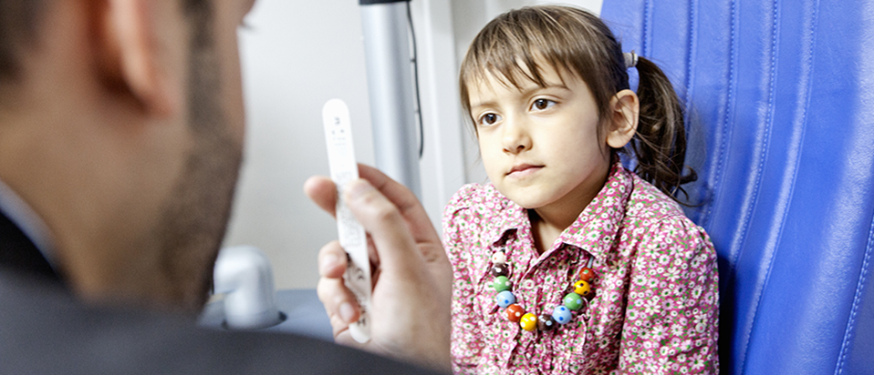 Child receives sight test