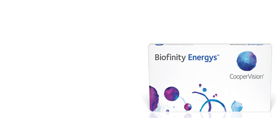 CooperVision Biofinity Energys contact lenses