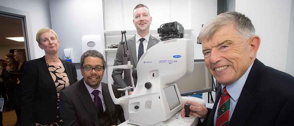 Doug Perkins and Specsavers Newport optometrists