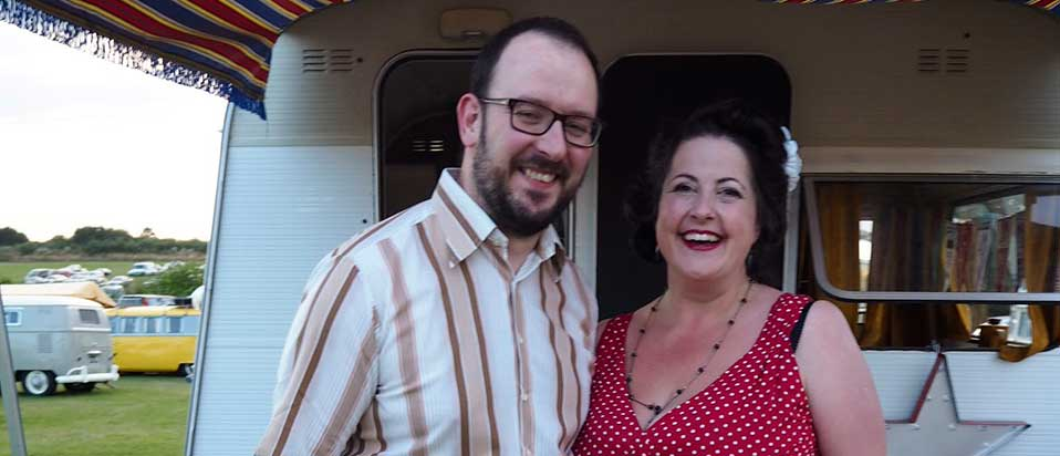 Iain Mellis pictured with his wife