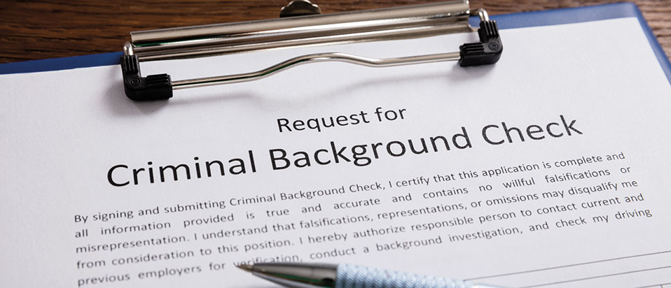 Complete Background Screening form