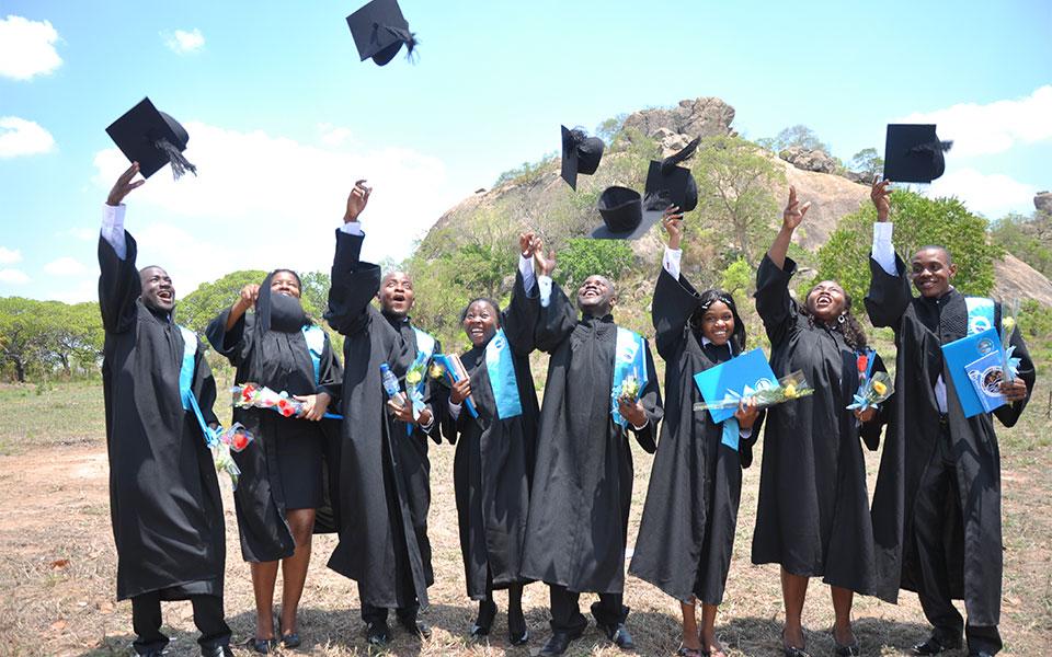 Graduates in Mozambique