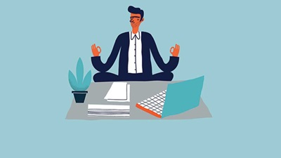 Meditating worker