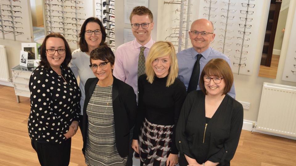Allister and Simpson Opticians practice team