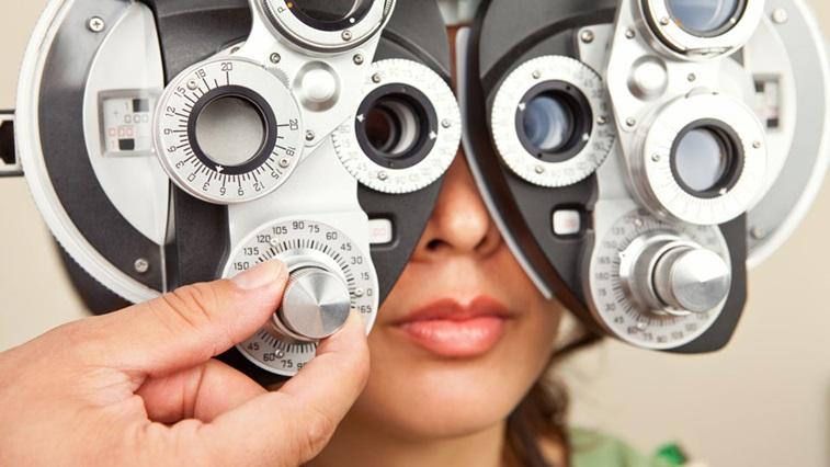 Eye test being performed