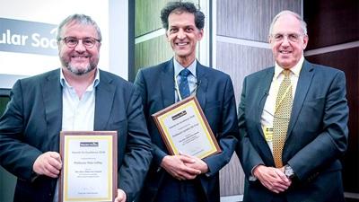 Professors Pete Coffey and Lyndon de Cruz