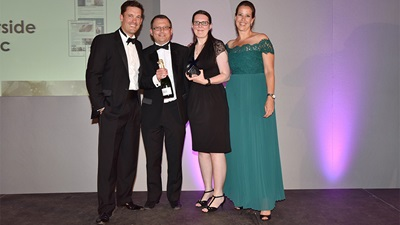 The Outside Clinic win an award at the DCA award ceremony