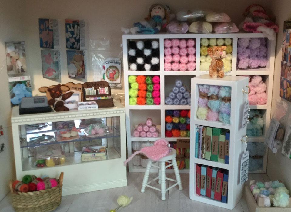 miniature wool shop