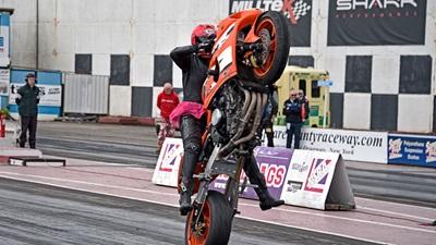 Motorbike wheelie