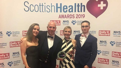 Scott Mackie at the Scottish Health Awards 2019