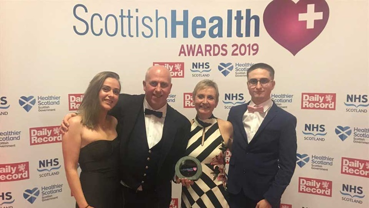 Scott Mackie at the Scottish Health Awards 2019