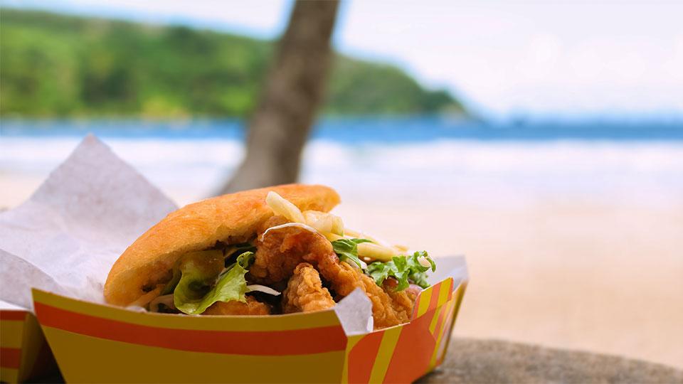 Trinidad and Tobago Bake and Shark sandwich
