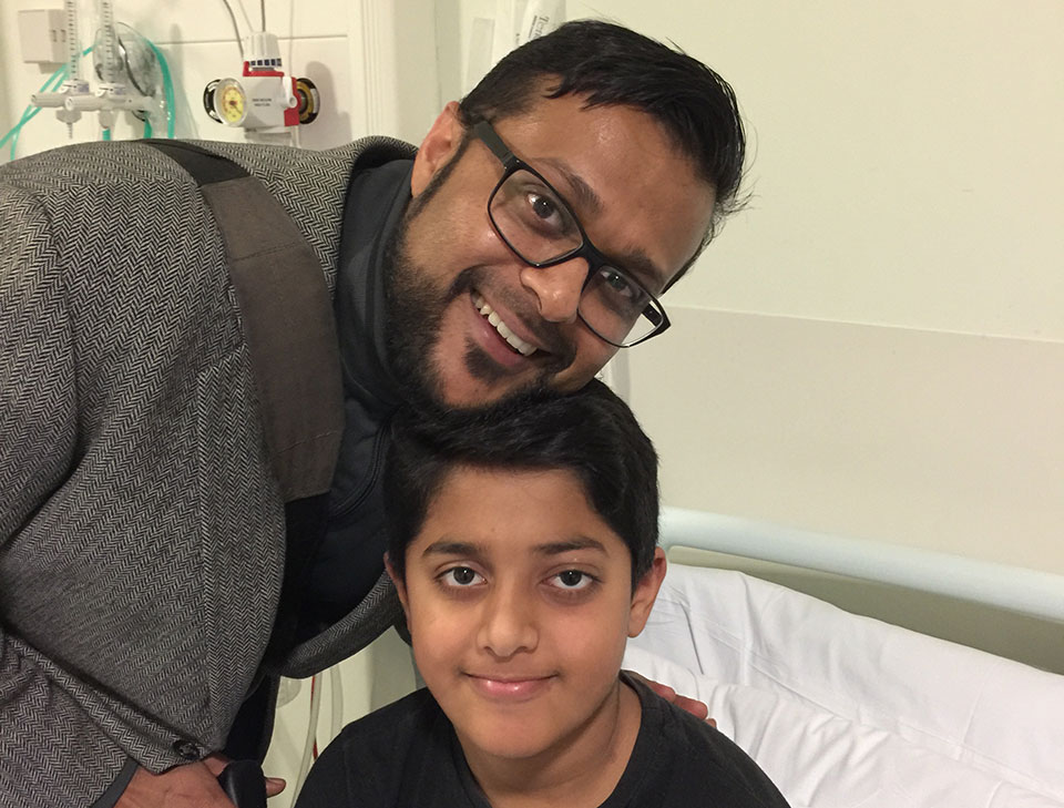 Wasim and his son