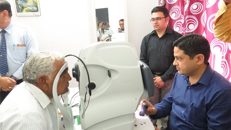 The multiple has donated an OCT machine to a hospital in India