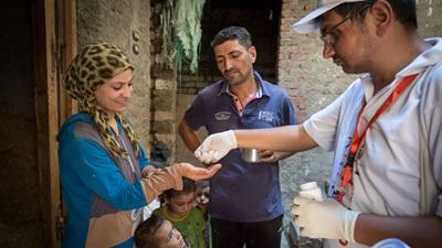 distributing medicine