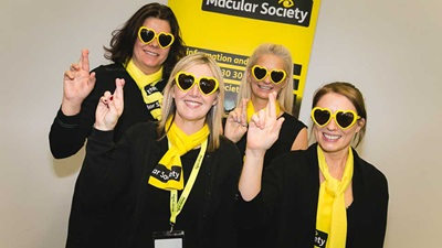 Macular Society volunteers