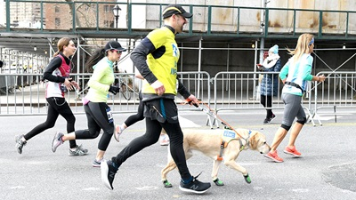 Thomas Panek running NYC half marathon