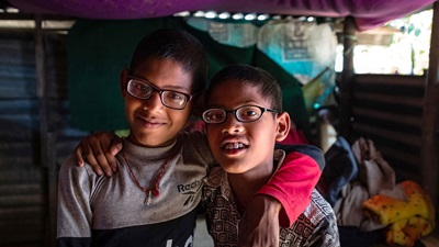 Two children from Nepal