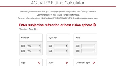 Acuvue fitting calculator