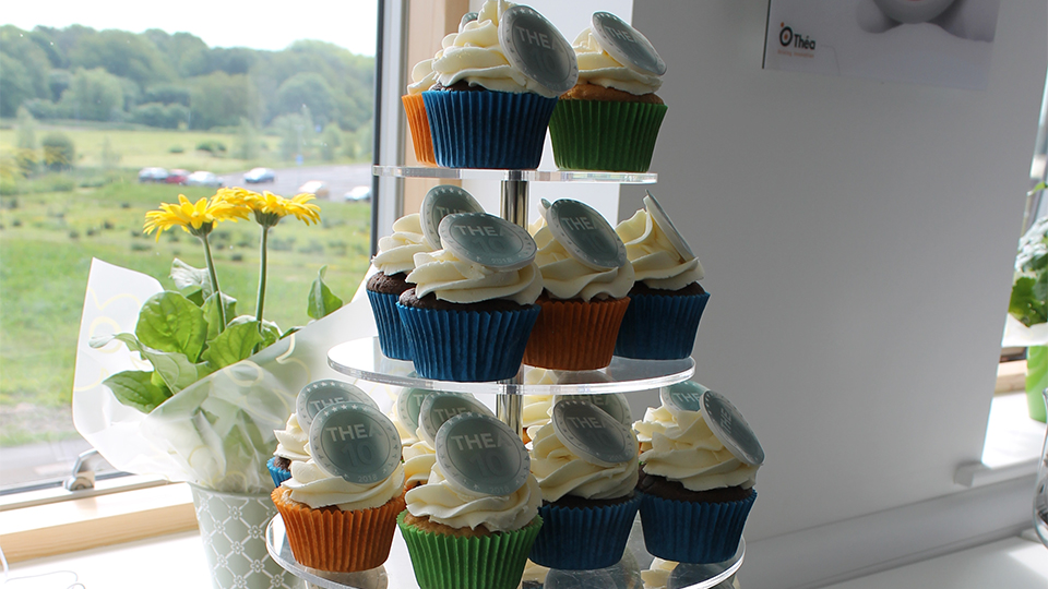 Thea Pharmaceuticals birthday cakes