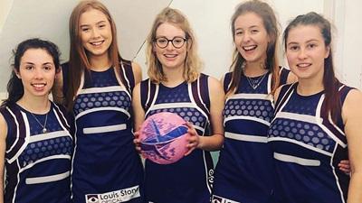 Cardiff University's optometry student netball team
