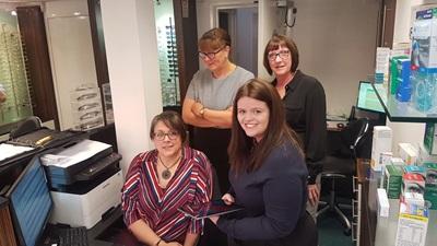 Newbold Opticians team