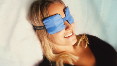 woman wearing eye mask