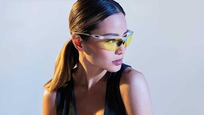 A women wearing sports eyewear