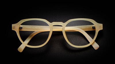 Glasses on black background