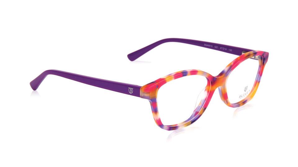 Purple, orange and pink frames